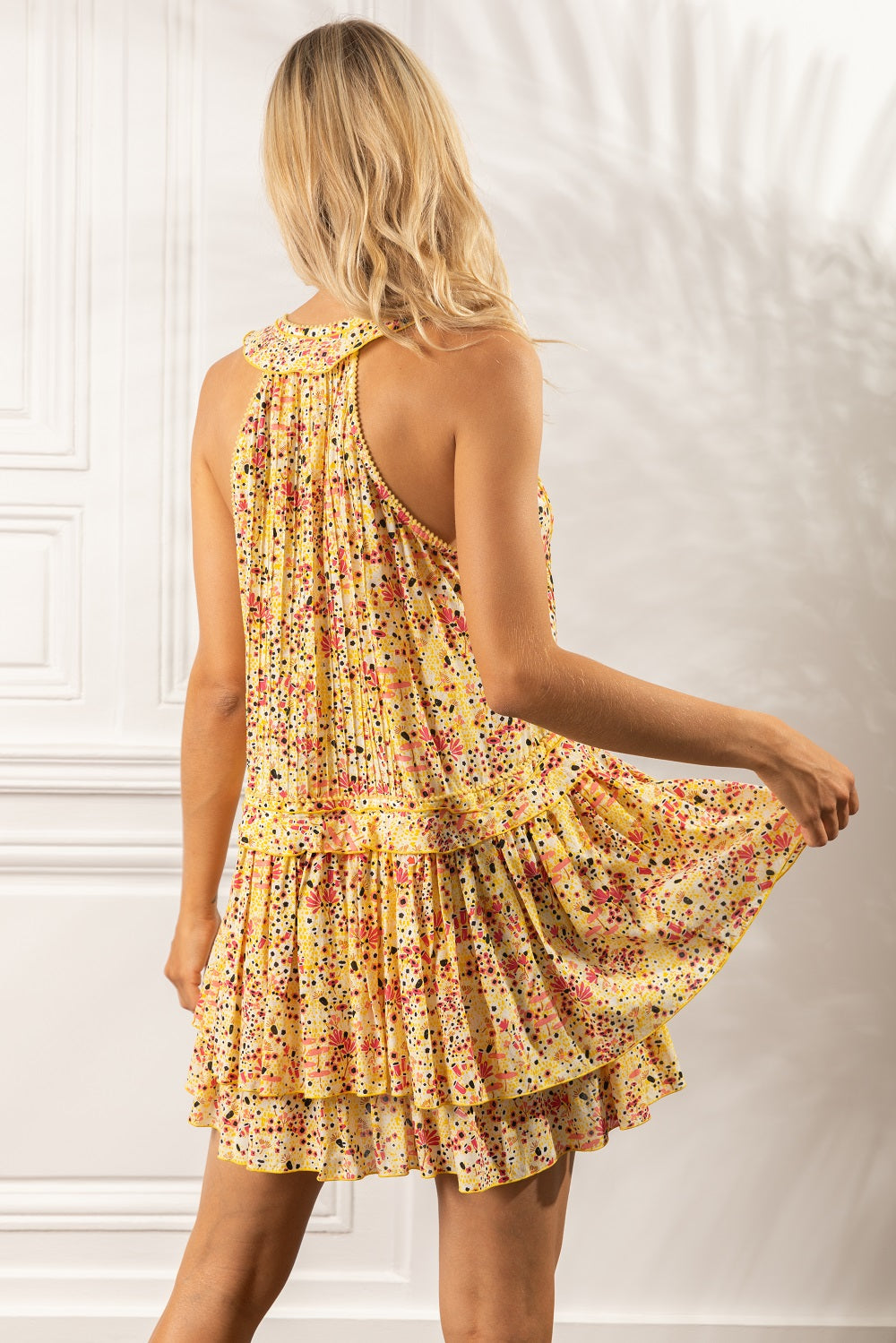 Mini Dress Mae Ruffled - Yellow Malva