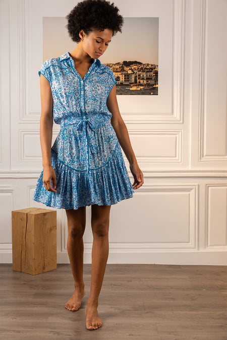 Mini Dress Sasha - Blue Hortensia
