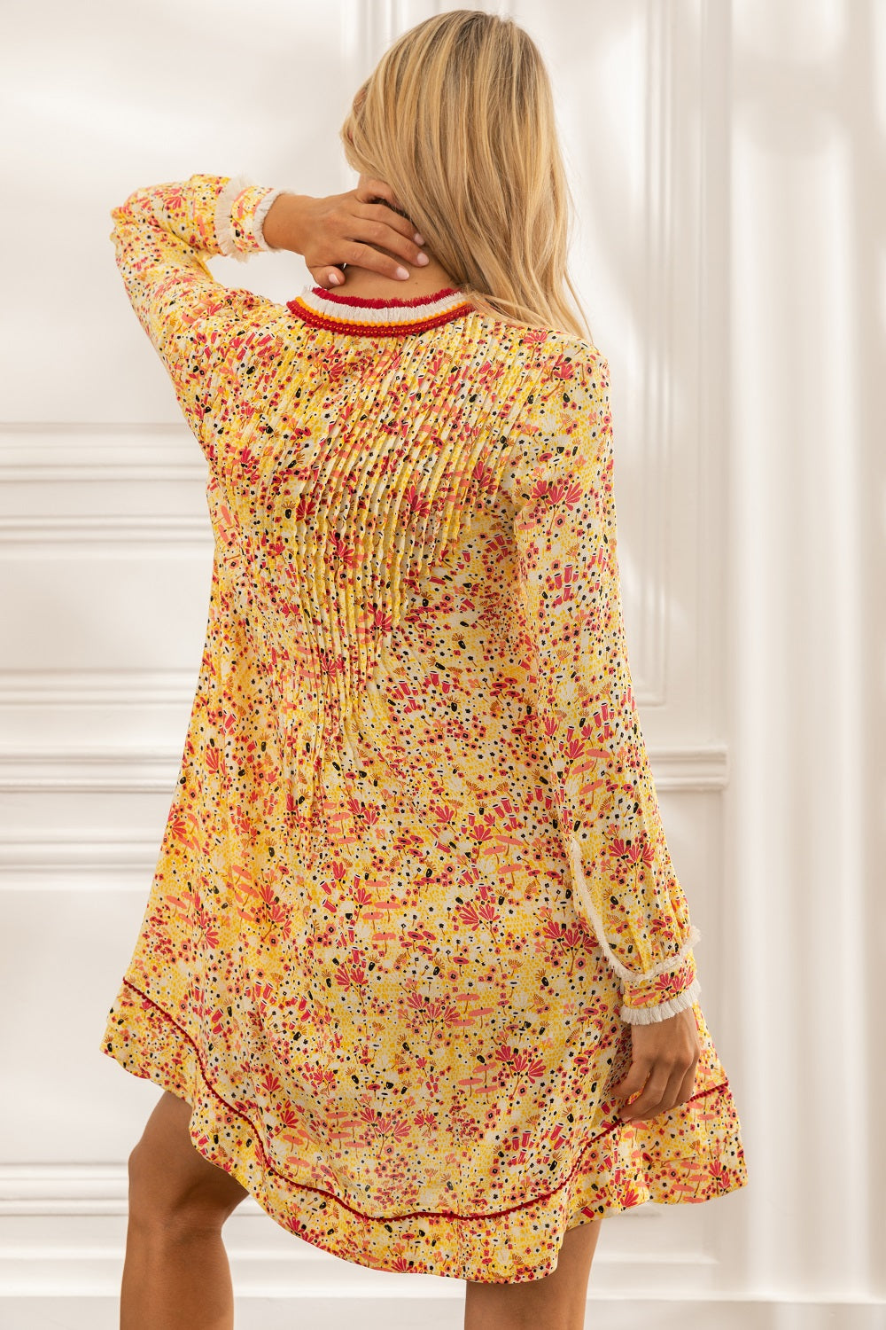 Mini Dress Ola Long Sleeve - Yellow Malva