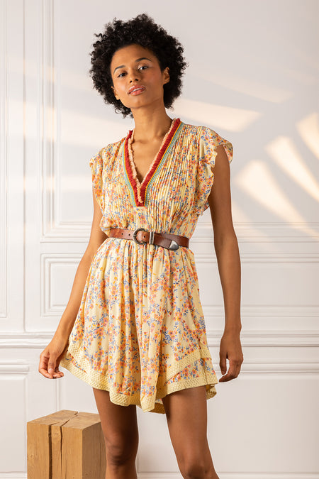 Mini Dress Tesorino - Pink Marigold