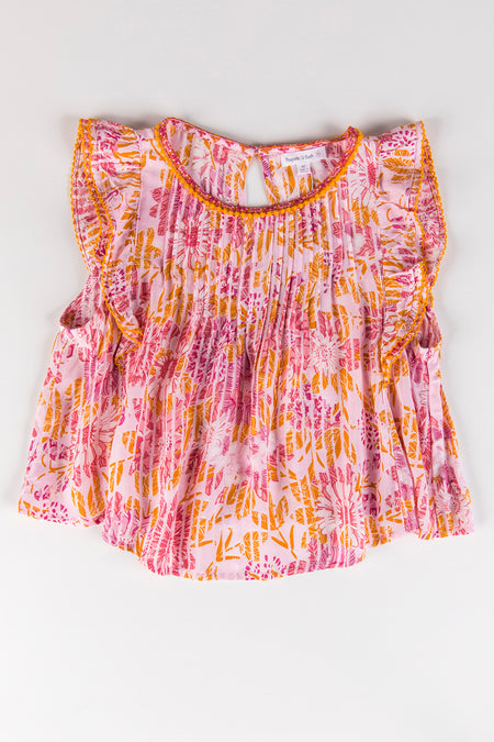 Kids Top Blouse Amber Pleated - Yellow Marigold