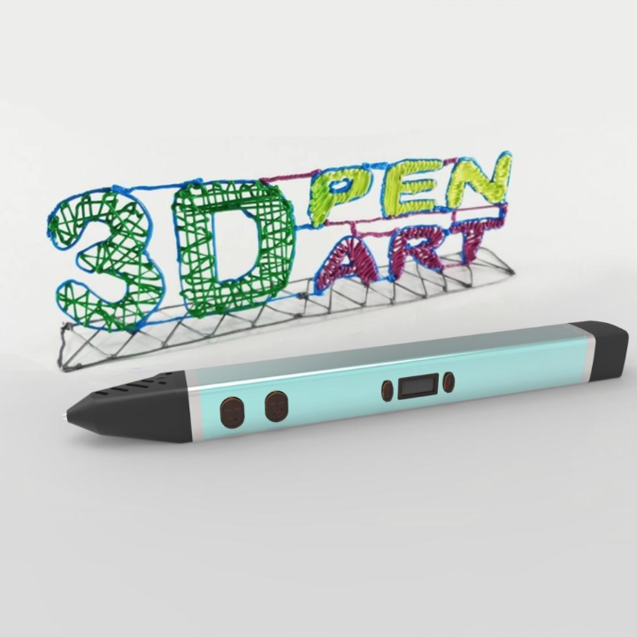 Metallic V4-Q LCD Temperature Adjustable 3D Printing Pen (PowerBank Compatible)