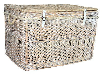 Large White Wash Storage Hamper