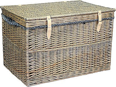 Large Antique Wash Storage Hamper