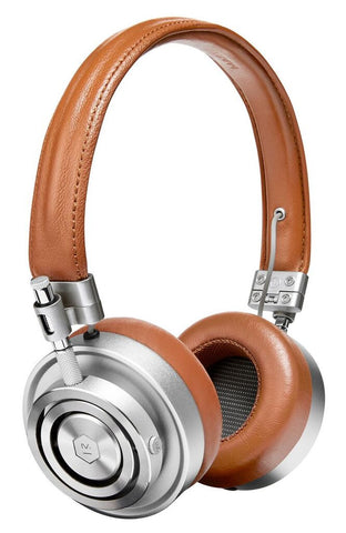 Master & Dynamic MH30 Headphones (silver w/ brown leather)