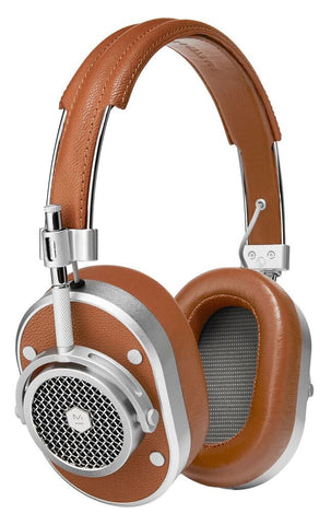 Master & Dynamic MH40 Headphones (silver w/ brown leather)