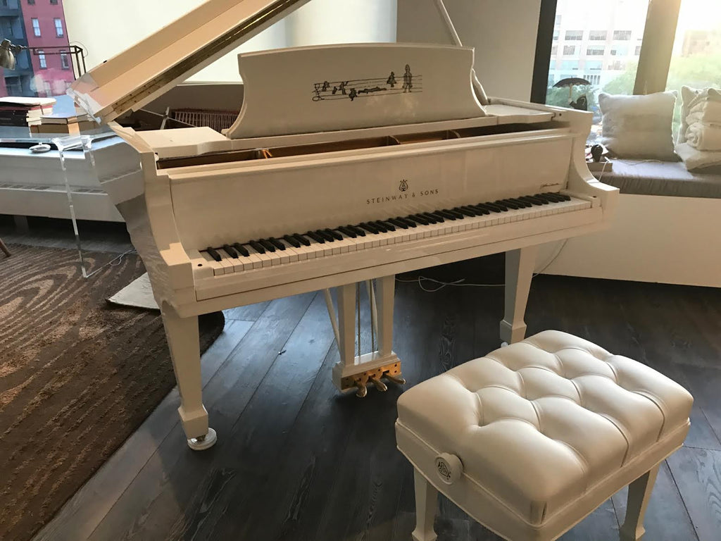 John Lennon Extremely Limited Edition Steinway Model A in White