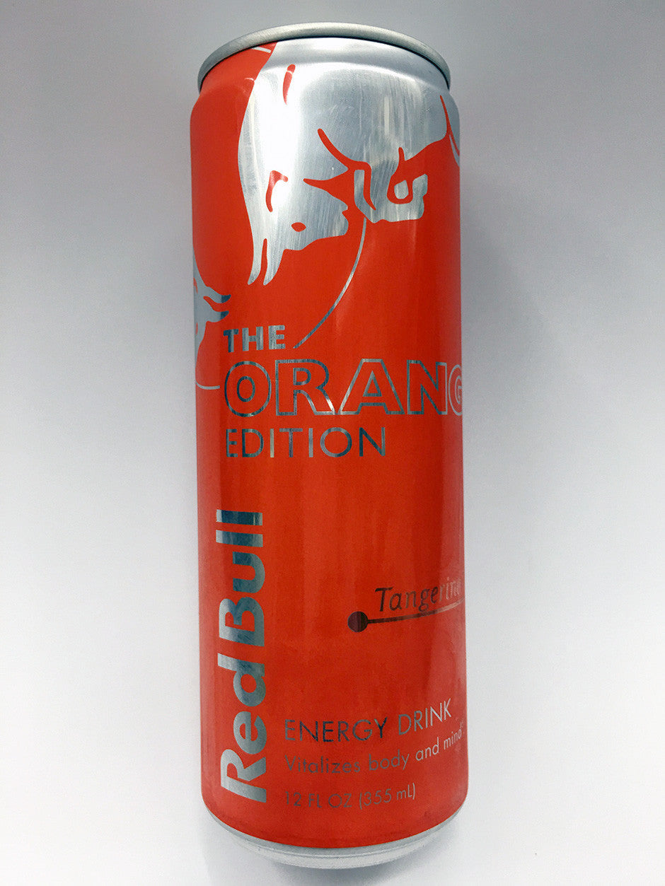 Red bull orange edition energy drink, tangerine, 12 oz, 24 ct.