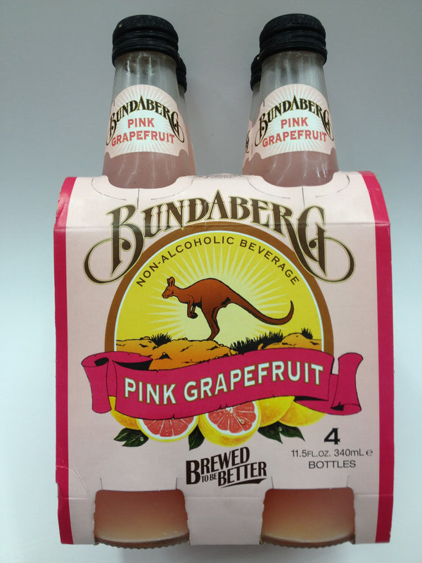 Bundaberg Pink Grapefruit 4 Pack Soda Pop Shop