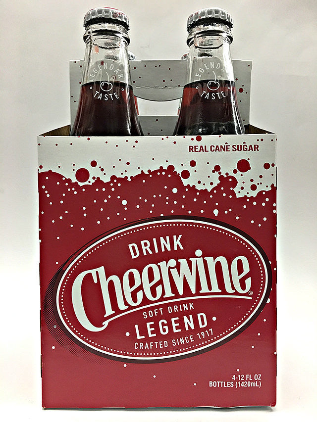 Cheerwine North Carolina Cherry Soda 4 Pack