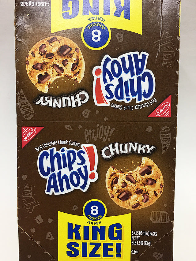 Chips Ahoy Chunky Cookies 8 Pack King Size