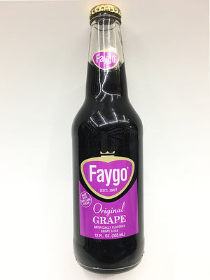 Faygo Original Glass Bottle Grape Soda