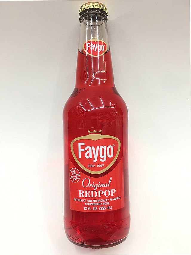 Faygo Original RedPop Glass Bottle