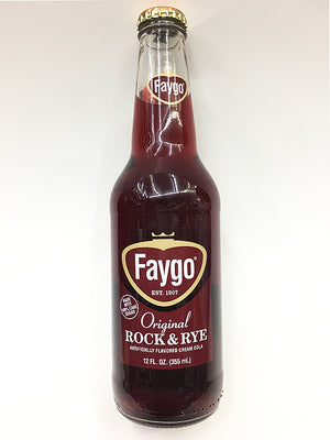 Faygo Glass Bottle Rock and Rye Soda