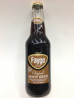 Faygo Glass Bottle Root Beer Soda