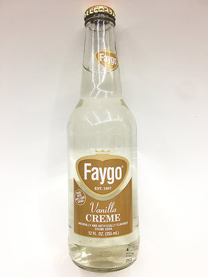 Faygo Vanilla Cream Glass Bottle Soda
