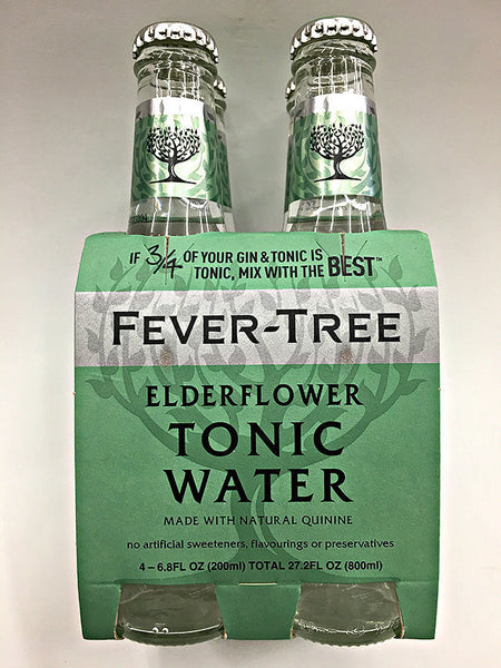 Fever-Tree Handpicked Elderflower Tonic Water 4 Pack