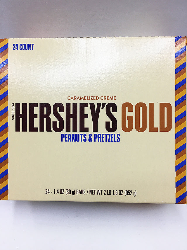 Hershey's Gold Caramelized Crème Candy 24 Count / Regular Size
