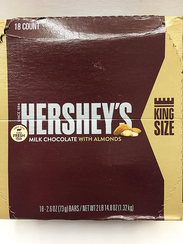 Hershey's Milk Chocolate Almonds 18 Count / King Size