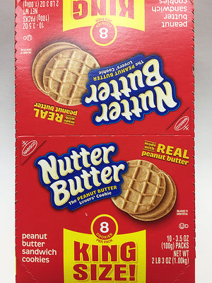 Nutter Butter Peanut Butter Cookies 8 Pack King Size