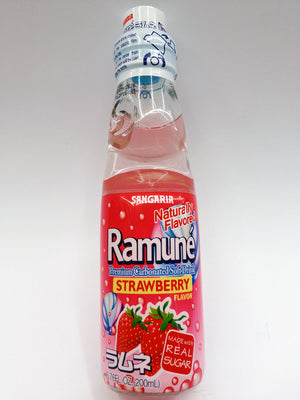 Ramuné Strawberry Sangaria Japanese Soda