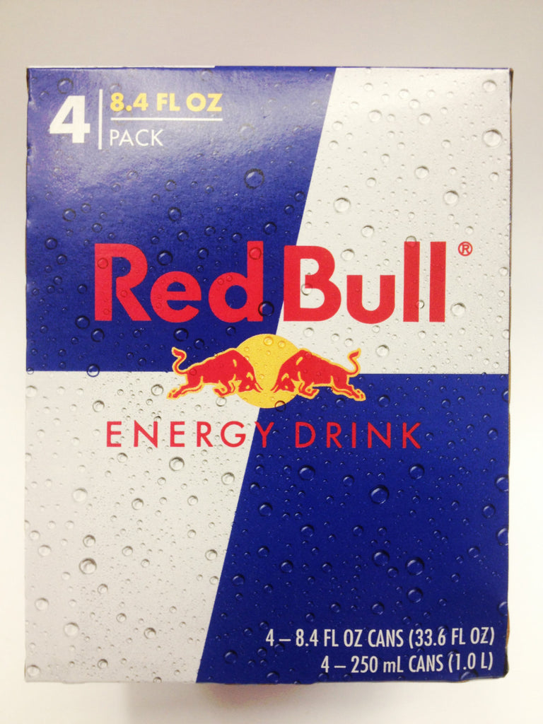 Red Bull 4 Pack Can