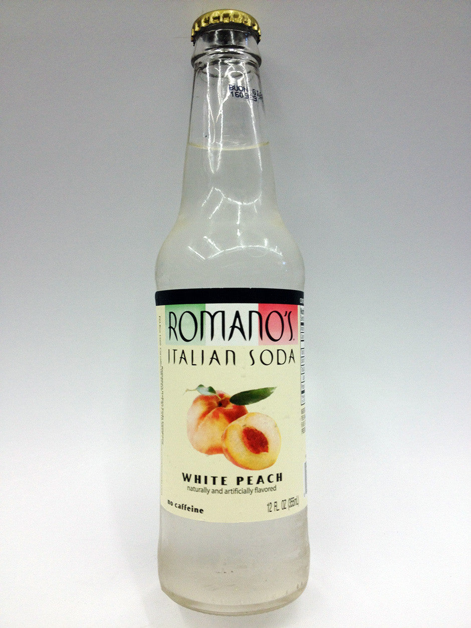 Romano's White Peach Soda