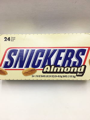 Snickers Almond Bar 24 Count / Regular Size