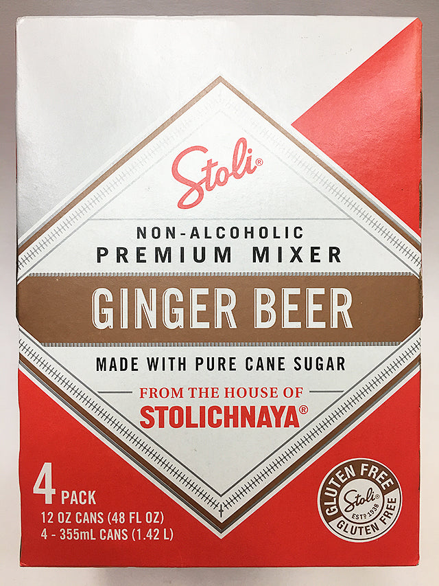Stolichnaya Non Alcoholic Ginger Beer 4 Pack