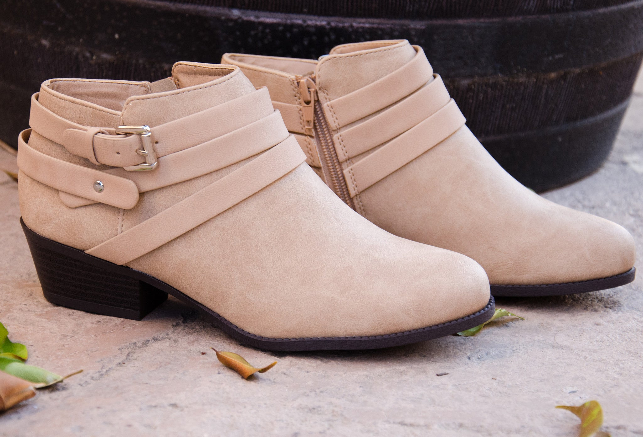 Buckle Up Strappy Booties