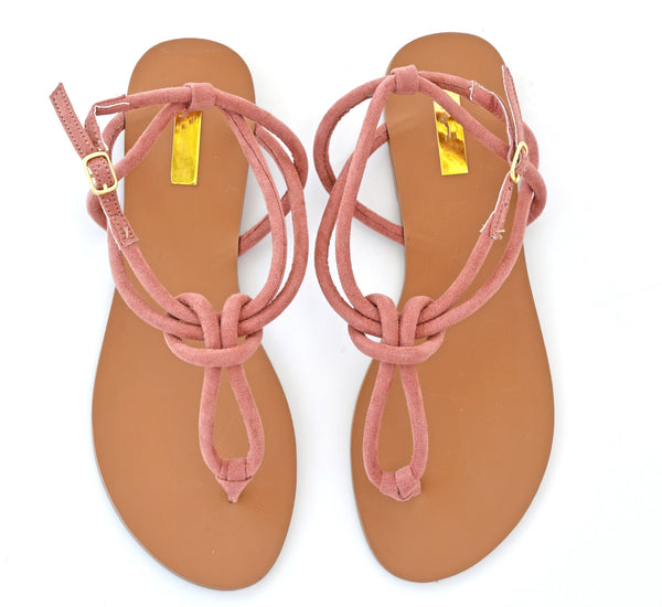 Thong Strap Knotted Sandals