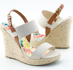 Open Toe Espadrille Platform Wedges