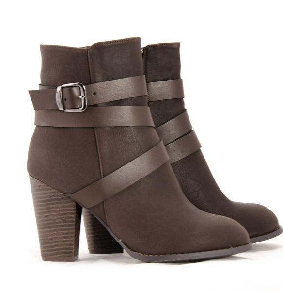 Wrap Around Ankle Boots