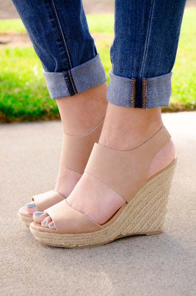 Espadrille Open Toe Platform Wedge Sandals