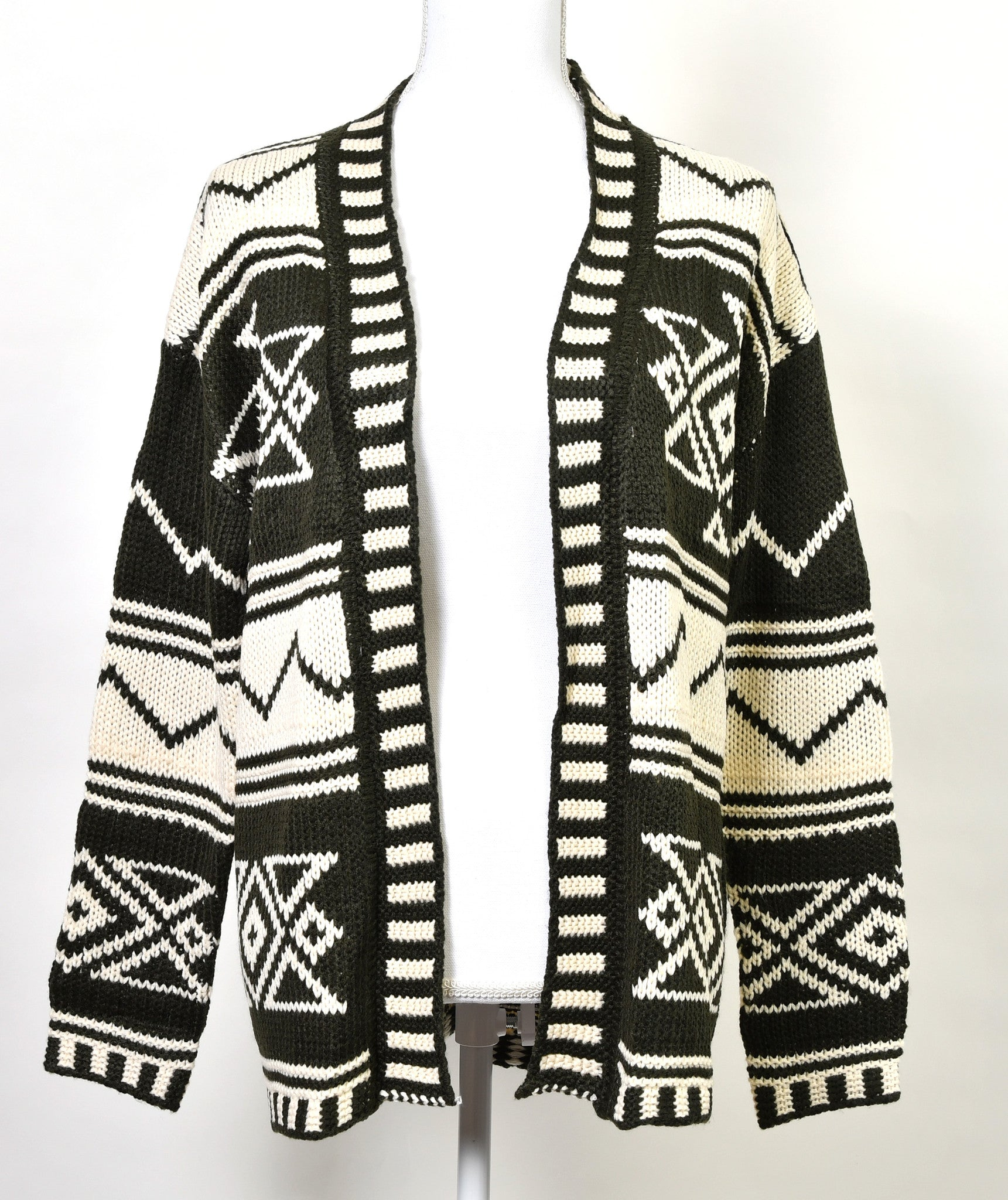 Patterned Long Sleeve Cardigan