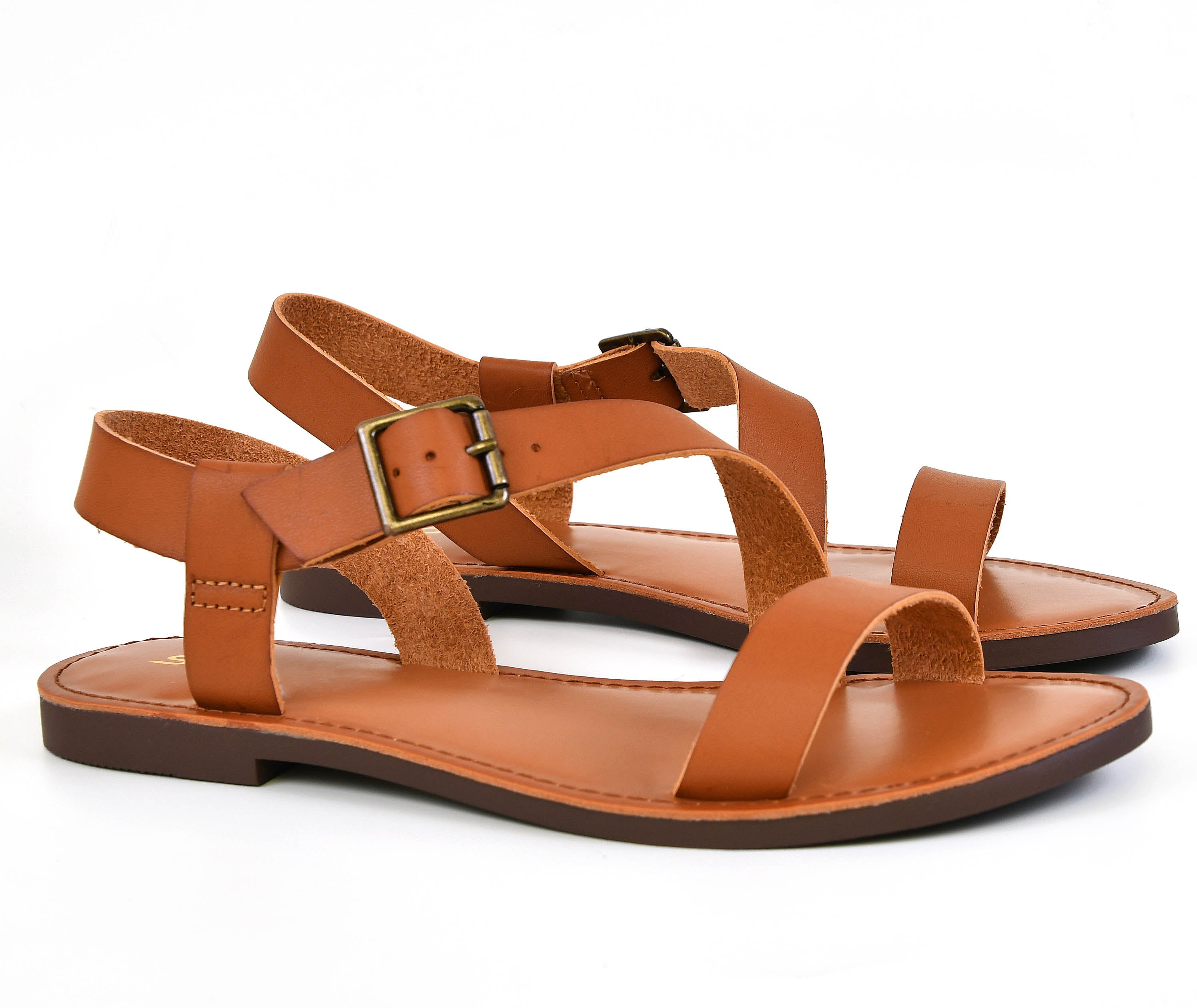 6cf151cc04c1b Asymmetric Strap Buckled Flat Sandal – Chica s Shoetique