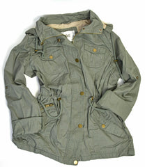 JUNIOR UTILITY JACKET WITH DETACHABLE HOOD