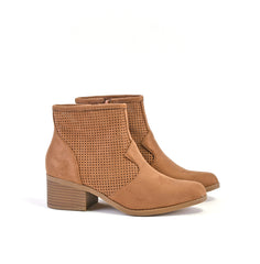 Perforated Cut Out Ankle Bootie