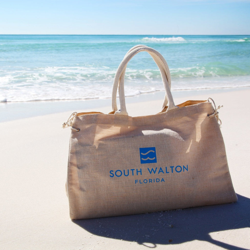Bermuda Tote with Beach Communities - Natural