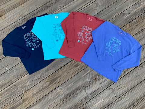 Comfort Colors Youth Long-sleeve Sea Turtle Tee