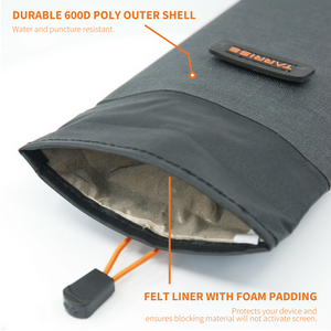 GoDark Faraday Bag Felt Liner and Durable Outer Shell