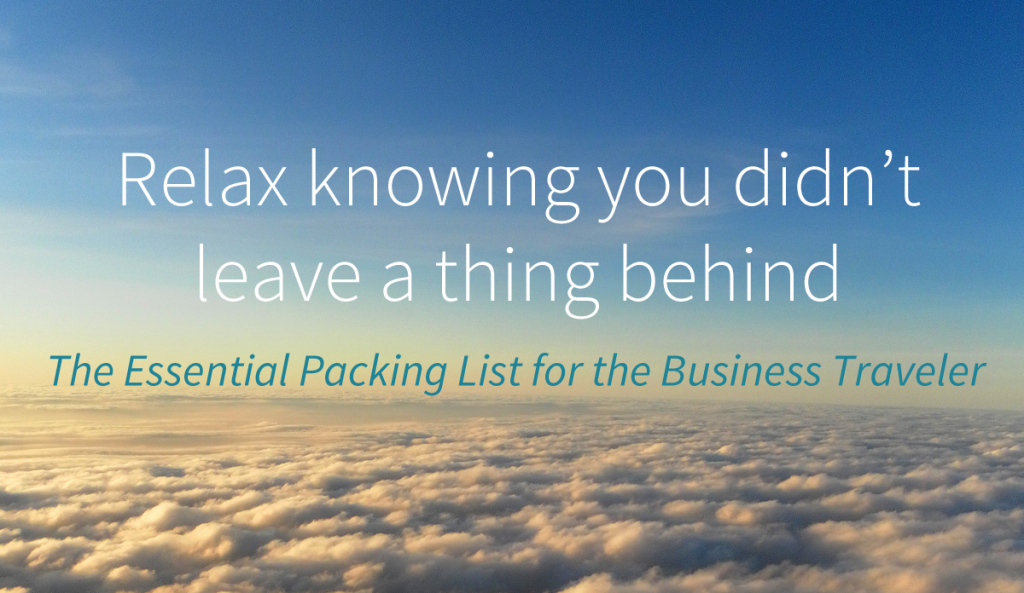 Packing list for business travel