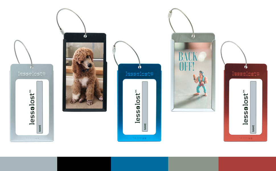 tags come in 5 different colors