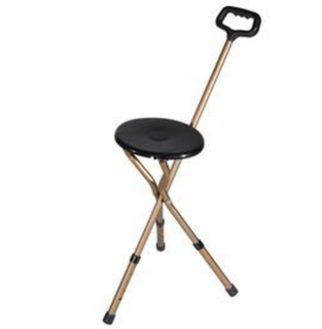 foldable and portable chair cane