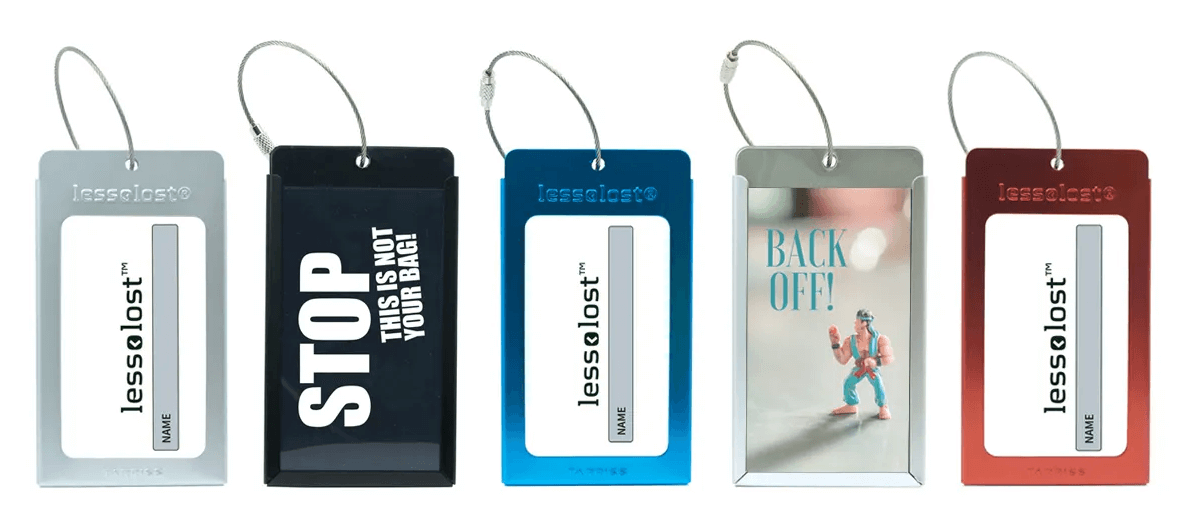 Customizable Metal Luggage Tags