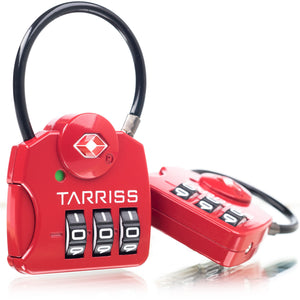 Tarriss TSA Locks w/ SearchAlert® - 2 Pack