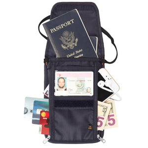 Tarriss Anti-Theft RFID Passport Holder & Neck Wallet / Neck Stash