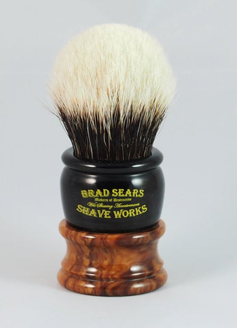 The Arley Silvertip Badger Shaving Brush by Brad Sears Shave Works