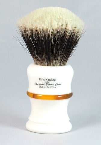The Knight 28mm 2-Band Silvertip Shaving Brush by Brad Sears Shave Works