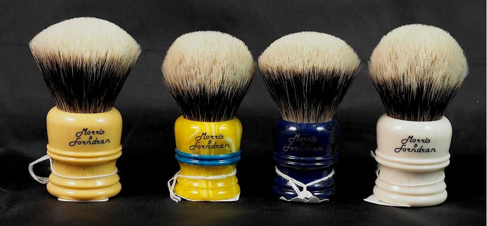 Some Morris & Forndran Shave Brushes from Brad Sears Shave Works